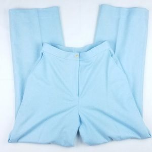 Lauren Ralph Lauren light blue wool blend pants
